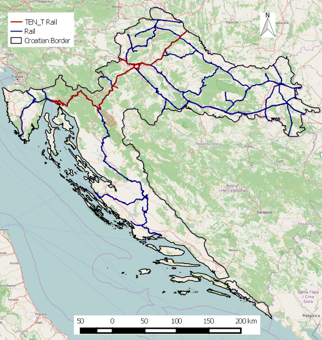 Croatian case study rail network